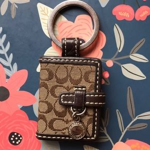 Coach signature canvas keychain